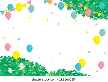 Background of festival. Colorful balloons and garland background.
