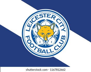 Background Flag of Leicester City white color wallpaper Vector