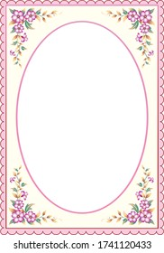 Background with floral patterns for wedding invitations, greeting cards, anniversary, birthday, certificate, thanksgiving. Place for text. Vector illustration