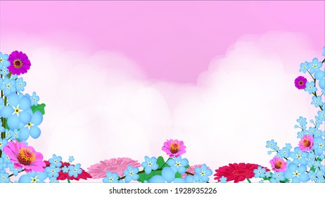 background The flowers in the pink haze, Business Presentation Vector Template Used For Decoration, Advertising Design, Website Or Publication, Banner And Poster, Cover And Brochure, Flyer
