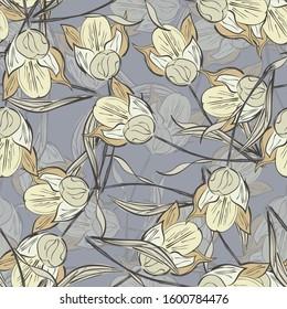 Background flowers tulip. seamless tulip.