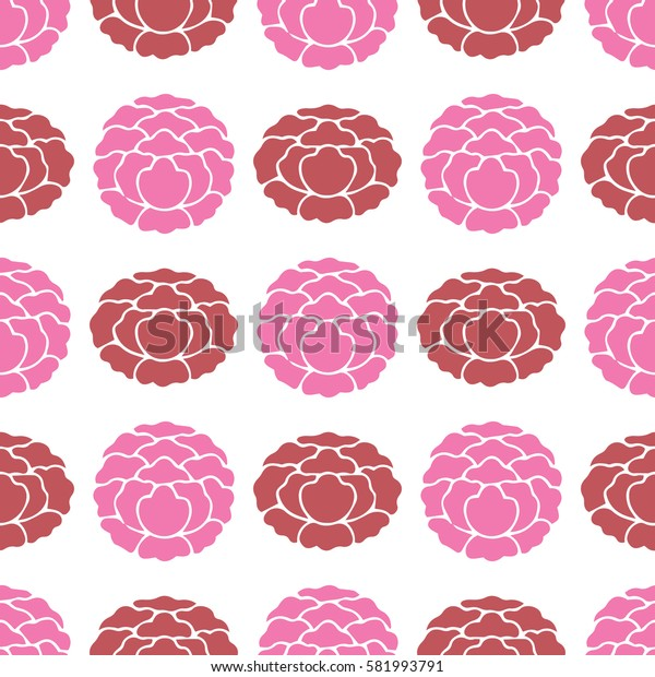 background with flowers, vector floral seamless pattern, rose, piones, pink colors.