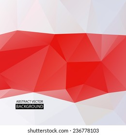 Background for flyer. The combination of red and white colors