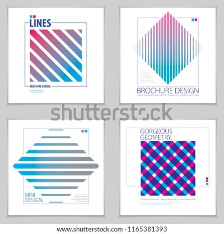 background flyers geometric patterns vector geometric stock vector