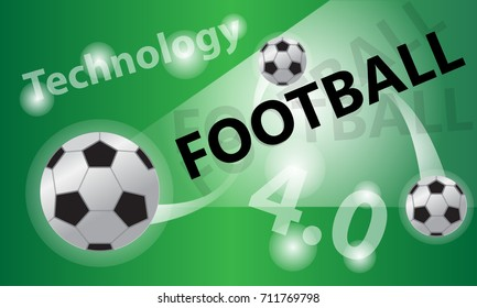 Background Football  Technology 4.0 vector