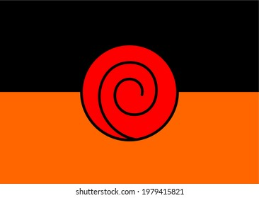 Background in the form of the Uzumaki sign from Naruto