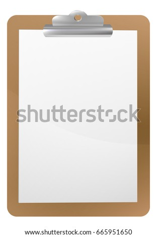 Background Frame Illustration Clipboard Clip Blank Stock Vector ...
