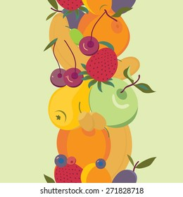 background with fruit design