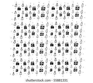 Background of a fur-tree gifts