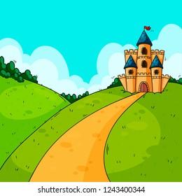 Background for game design. Castle.