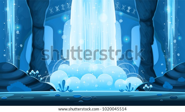 Background Games Mobile Applications Cartoon Night Stock Vector Royalty Free 1020045514