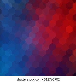 Background of geometric shapes. Colorful mosaic pattern. Vector EPS 10. Vector illustration. Blue, red, pink, purple colors.