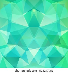 Background of geometric shapes. Green, blue colors. Mosaic pattern. Vector EPS 10. Vector illustration