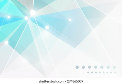 Background of geometric shapes. Triangle modern template for business. Lights vector background. Horizontal  business card template. Place for text. Vector illustration.
