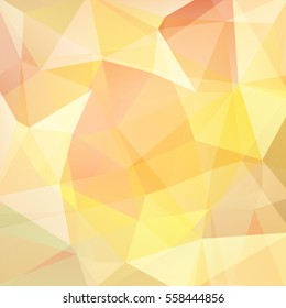 Background of geometric shapes. Yellow mosaic pattern. Vector EPS 10. Vector illustration