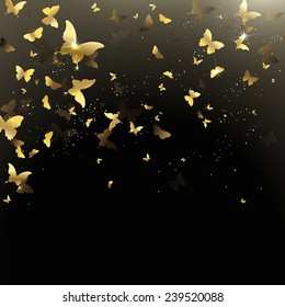 Golden Butterfly Images Stock Photos Vectors Shutterstock