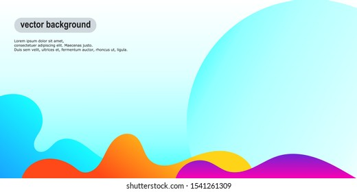 background with a gradient theme with the bottom there are three different abstract shapes of color - Shutterstock ID 1541261309