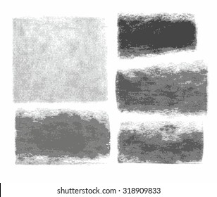 Background, graphite pencil, charcoal, texture, frame, banner, white background. Traces of charcoal and graphite pencil on white paper. Vector frame for text.