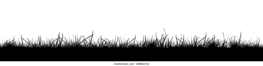 Background grass natural silhouette. Vector