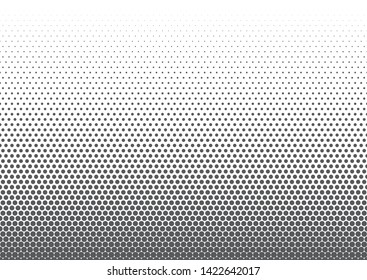 Background of gray circles of different sizes on a white field. Vector abstract illustration for design of stylish and business products. Flat design. Geometric gradient pattern. Geometric mosaic
