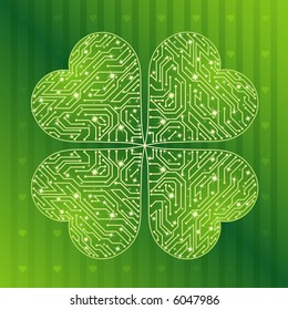 background with  green clover for St. Patrick's Day