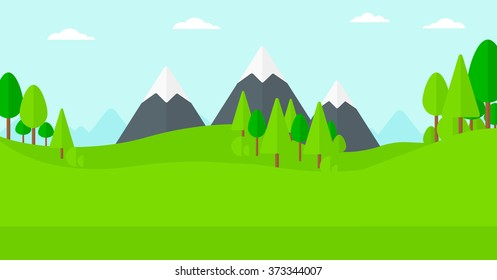 Background of green forest.