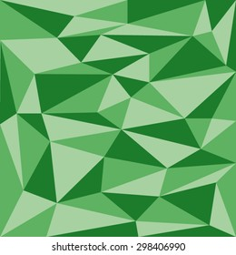Background Of Green Triangles