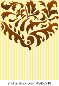 Background greeting card with decoration
