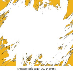 Background in grunge style. Template with grunge blooper in a circle. Vector illustration.
