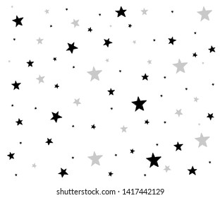 background of hand drawn star seamless pattern. illustration. - Vector