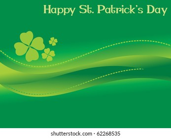 background for happy st patrick day, 17 march illustration