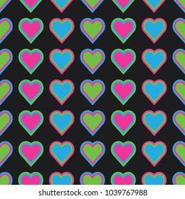 Background Heart Pattern Love Seamless Backdrop