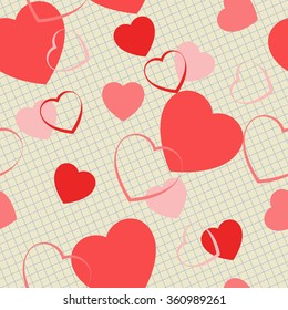 background with hearts for Valentine's Day. Vector illustration