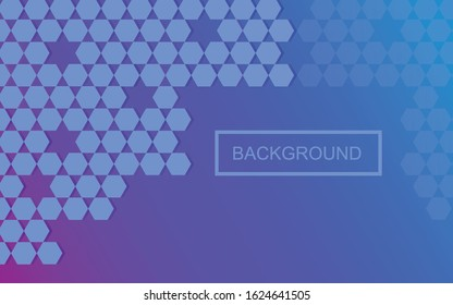 Background hexagon and star, Islamic concept