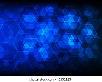 Hi Tech Digital Technology Concept Abstract Background Vector Illustration
