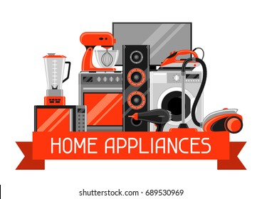 Royalty Free Home Appliance Poster Stock Images Photos