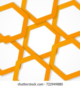 Background of honeycomb. Vector background.