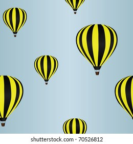 Background with hot air balloons in the sky (seamless) eps8