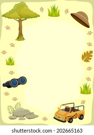 Background Illustration Featuring Safari-Related Things