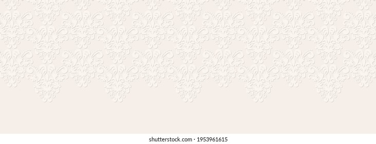 A background illustration with a lace-like pattern inspired by a delicate wedding dress.