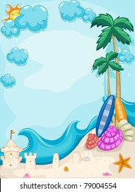 Background Illustration with a Summer Theme