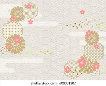 Background image of Japanese pattern