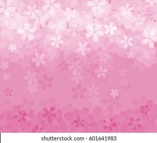 Background image of pink cherry blossom in spring