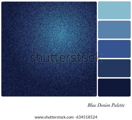 8b7e53f246 Background Indigo Blue Denim Colour Palette Vector de stock (libre ...