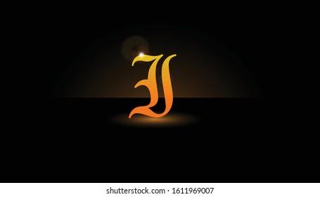 Background I Initial 3D.  The initials I vector.  Initials I for design logos