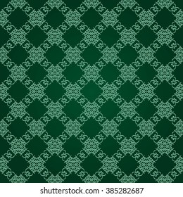 Background with Islamic Seamless Pattern. Muslim Background for presentation,  flyer or brochure. Holiday  Ramadan Greeting Card Background. Green Light  Abstract Background geometric pattern.