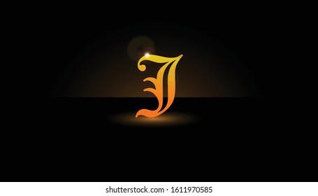 Background J Initial 3D.  The initials J vector.  Initials J for design logos