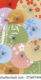 Background of Japanese umbrellas