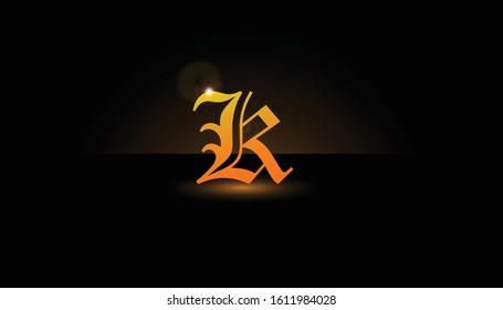 Background K Initial 3D.  The initials K vector.  Initials K for design logos