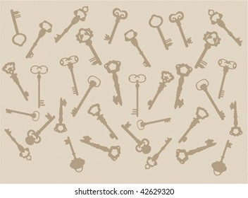 Background of keys
